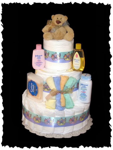 Diaper Cake and Toys For Delivery Services! Diaper Cake ...