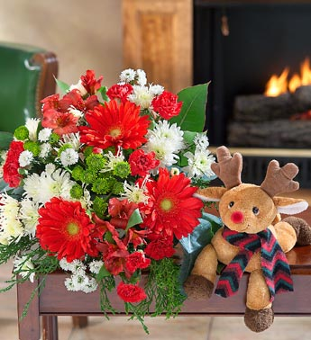 Rudolf Bouquet For Christmas Flower Delivery!